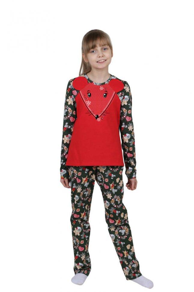 Купить Пижама детская Мышонок (красная), Инсантрик, Пижамы