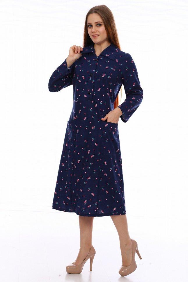 Платье трикотажное Маиза (темно-синее) фото