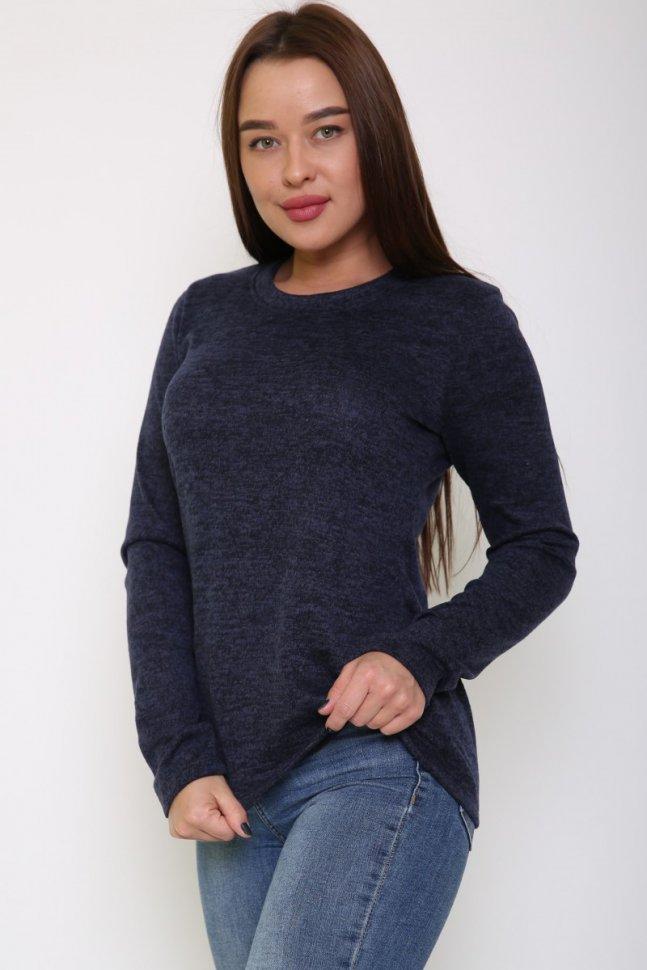 Блуза трикотажная Медея (синяя) фото