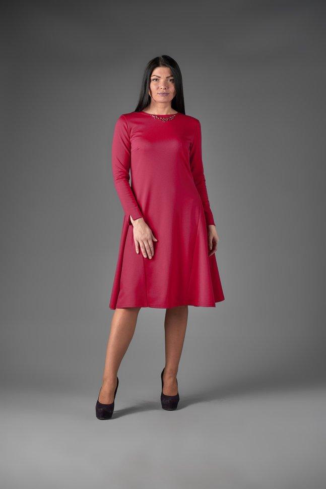 Платье трикотажное Амалеа (малиновое) фото