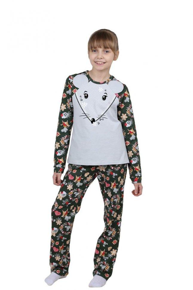 Купить Пижама детская Мышонок (серая), Инсантрик, Пижамы