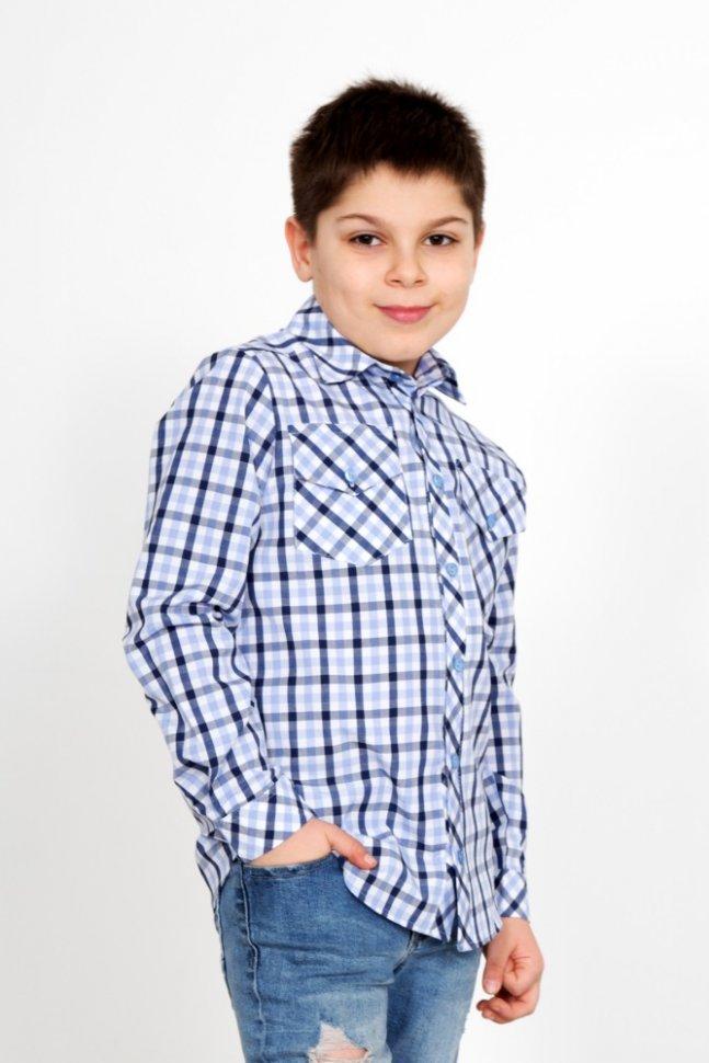 Рубашка детская Митяй (голубая) фото