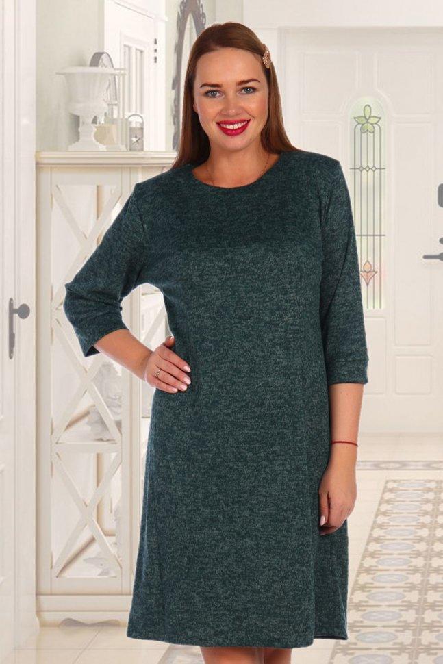 Платье трикотажное Макбет (зеленое) фото