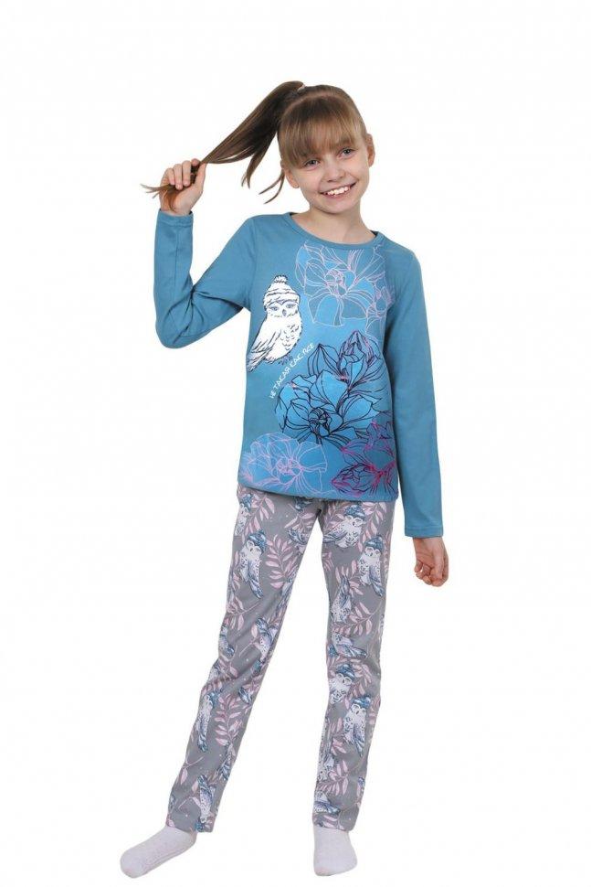 Купить Пижама детская Совушка (голубая), Инсантрик, Пижамы
