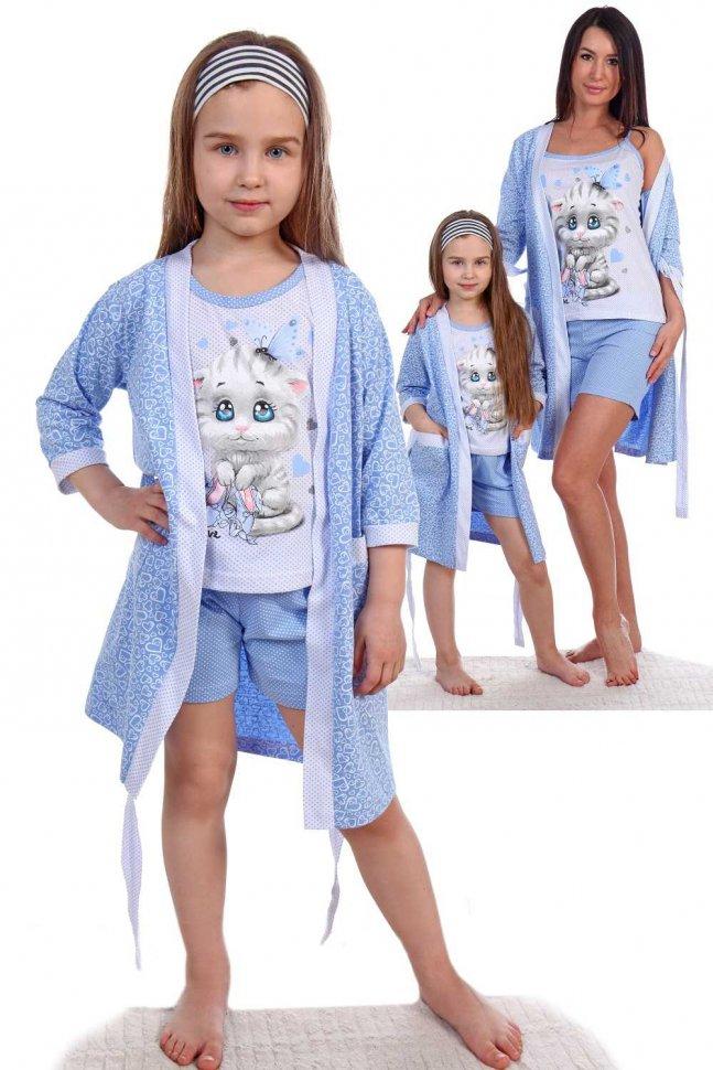 Купить Комплект детский Колосок (голубой), Инсантрик, Пижамы