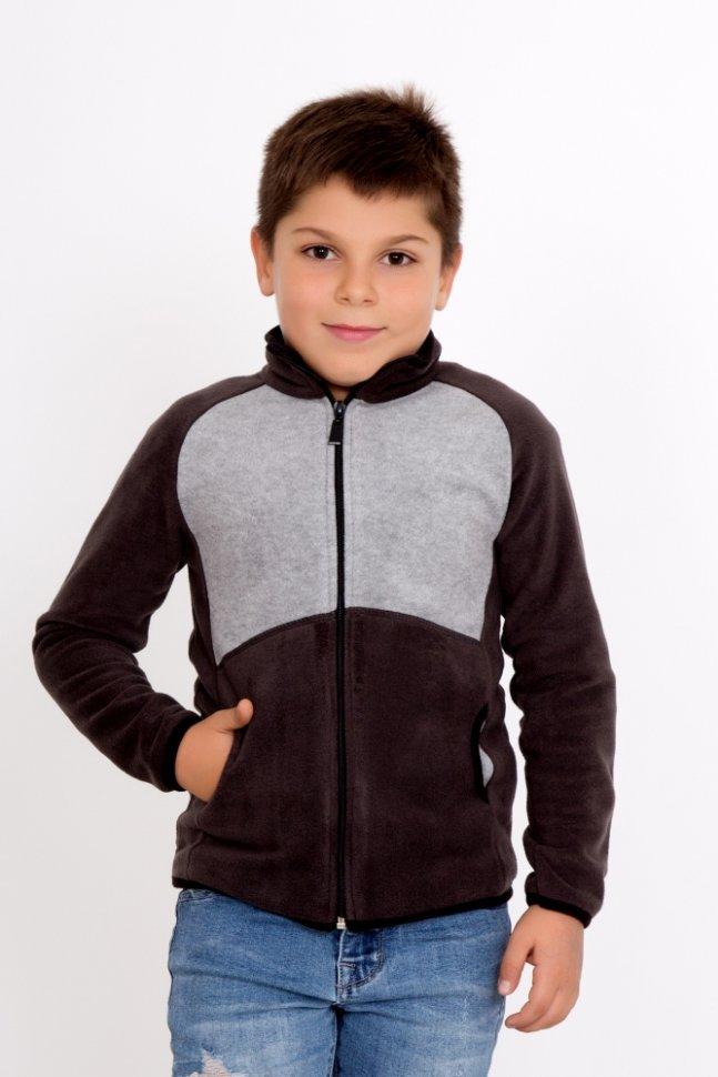 Толстовка детская Юнит (коричневая) фото