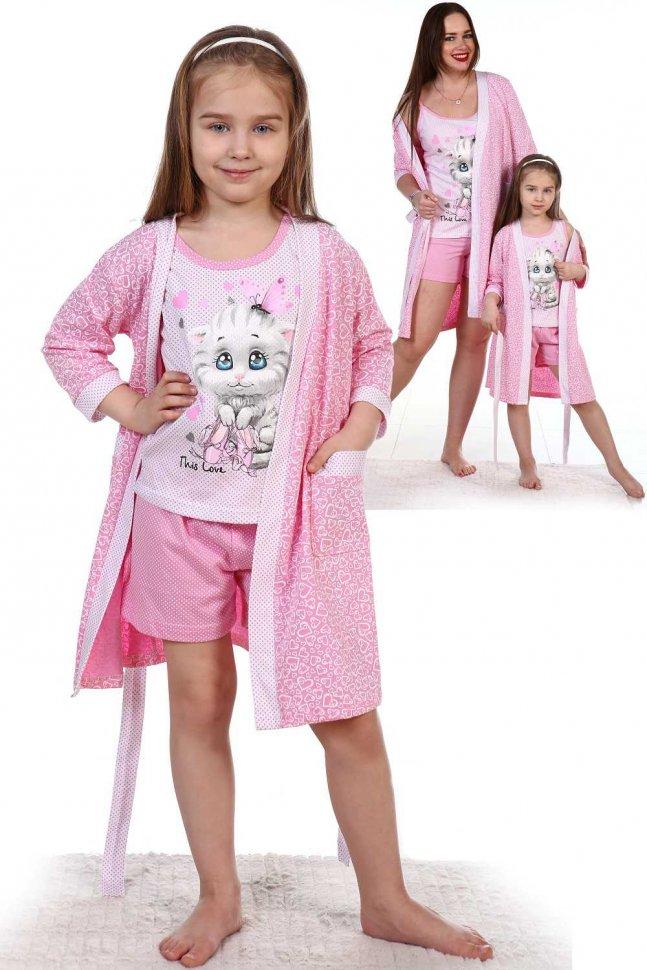 Купить Комплект детский Колосок (розовый), Инсантрик, Пижамы