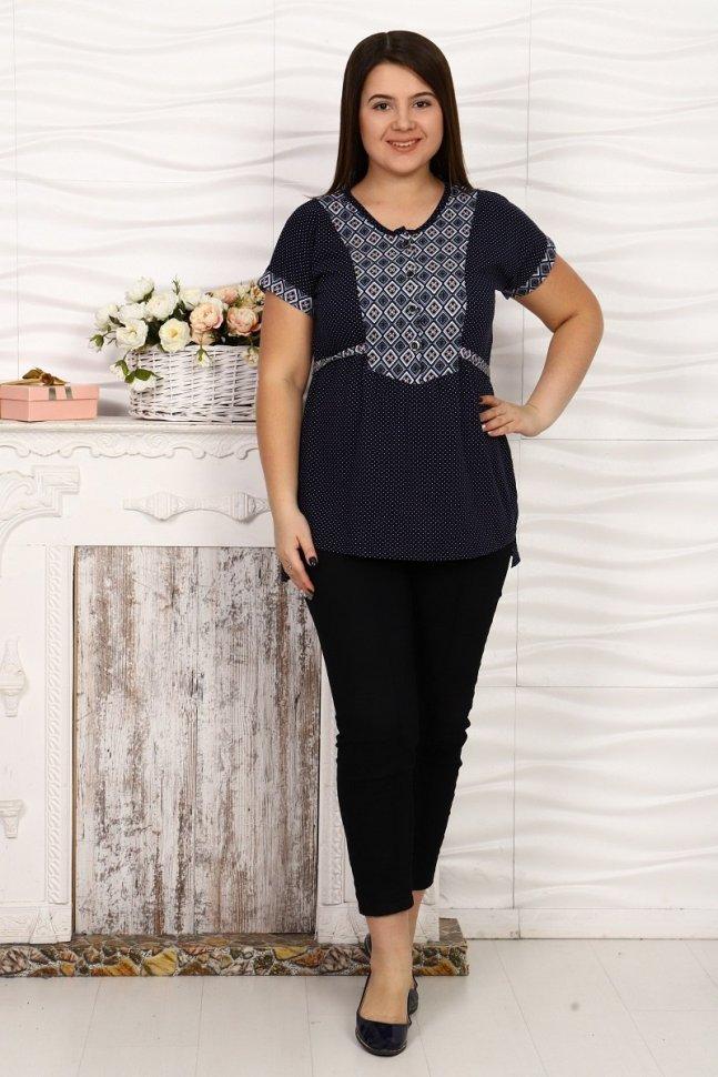 Рубашка трикотажная Анастасия (ромбики) фото