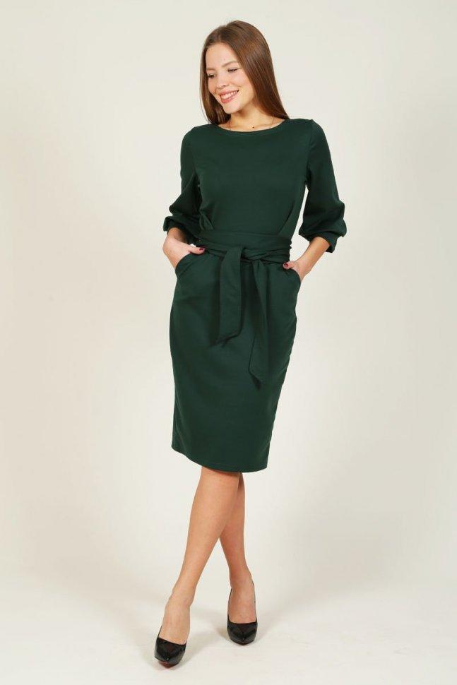Платье трикотажное Кларити (зеленое) фото