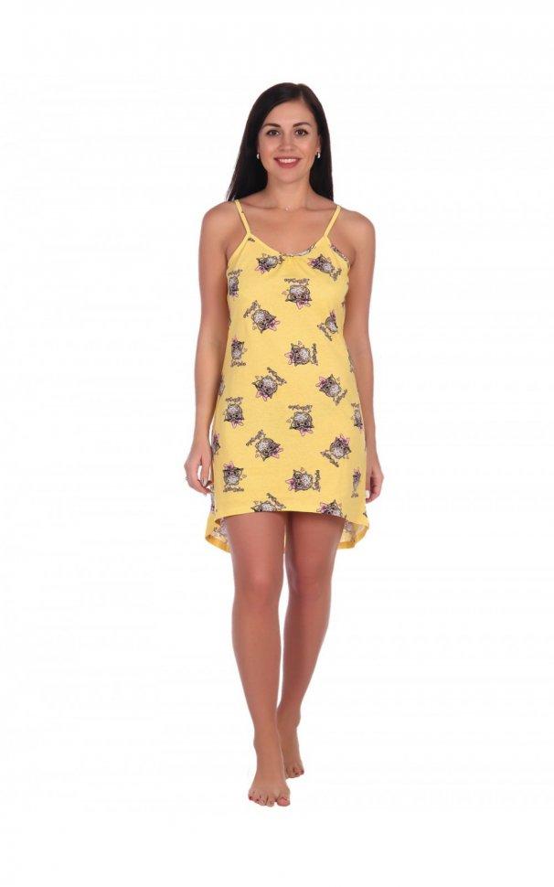 Ночная сорочка Амандин (желтая) фото