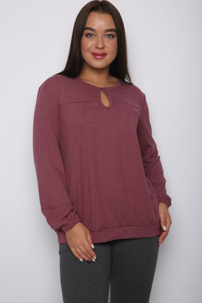 Блуза вискозная Холли (коричневая) фото