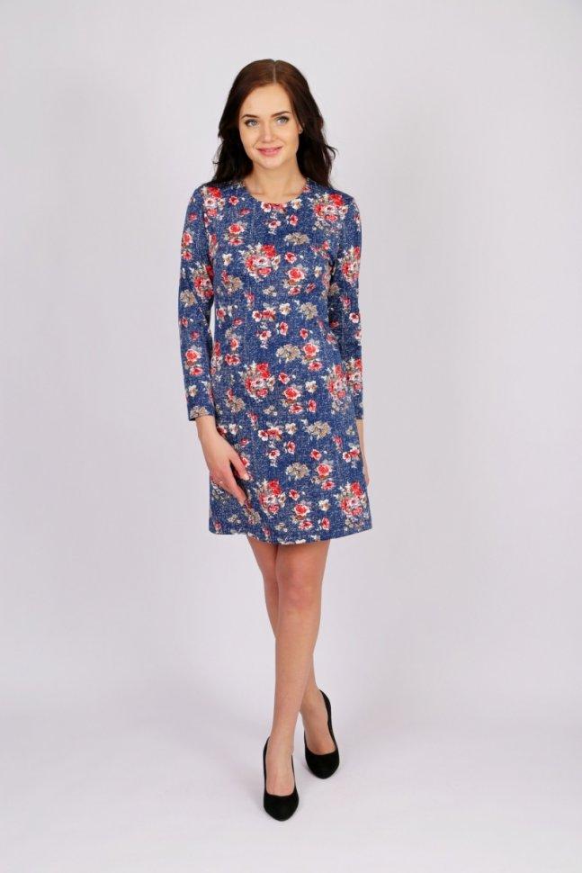 Платье трикотажное Черил (в ассортименте) фото