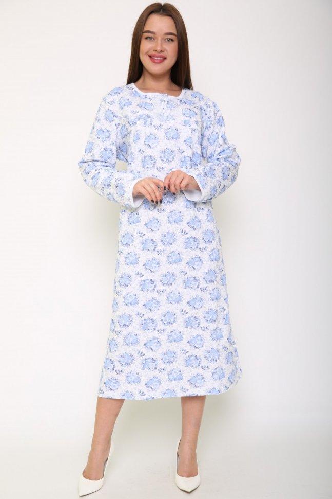 Ночная сорочка Санни (голубой букет)