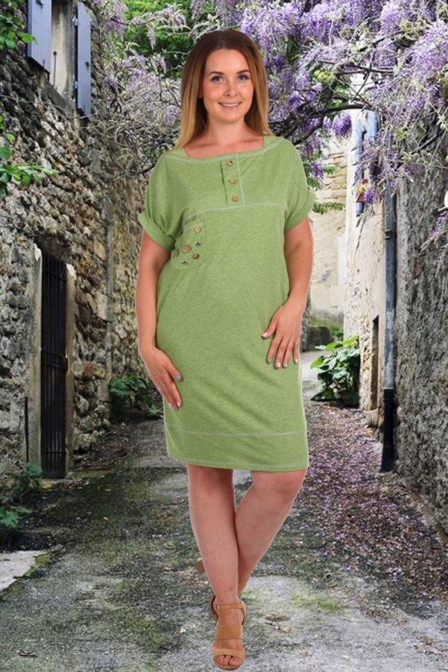 Платье трикотажное Рексана (салатовое)