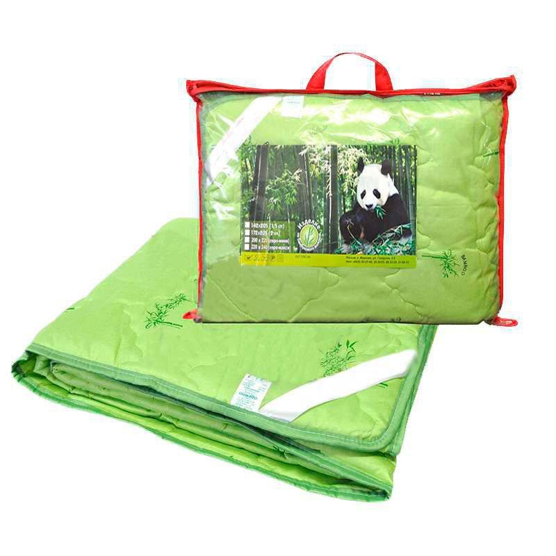 Одеяло бамбук 2-сп. с чехлом из тика (тонкое)