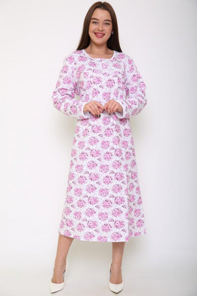 Ночная сорочка Санни (розовый букет)