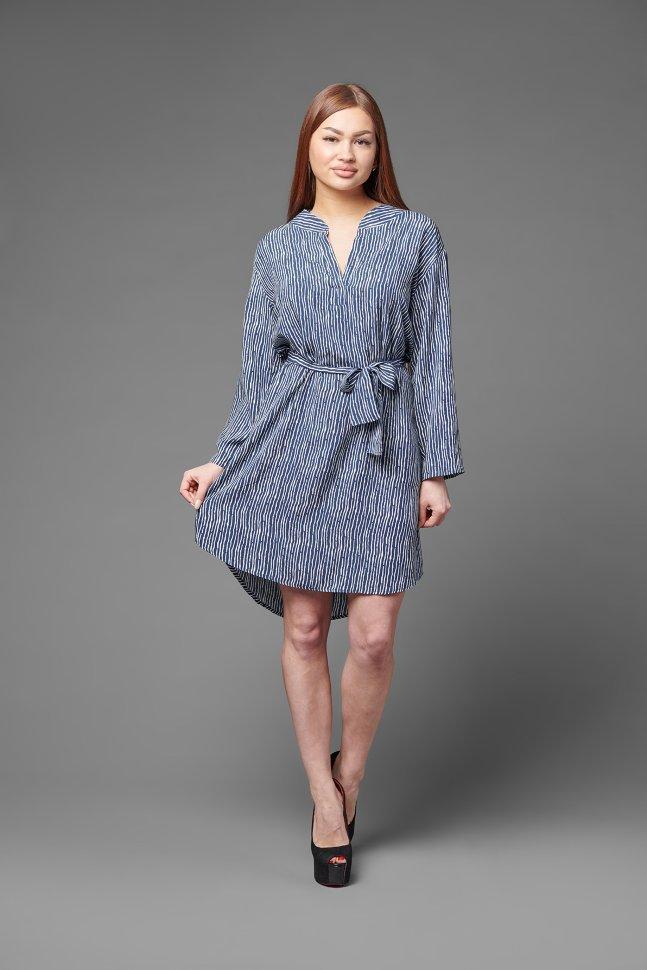 Платье штапельное Анико (линии) фото