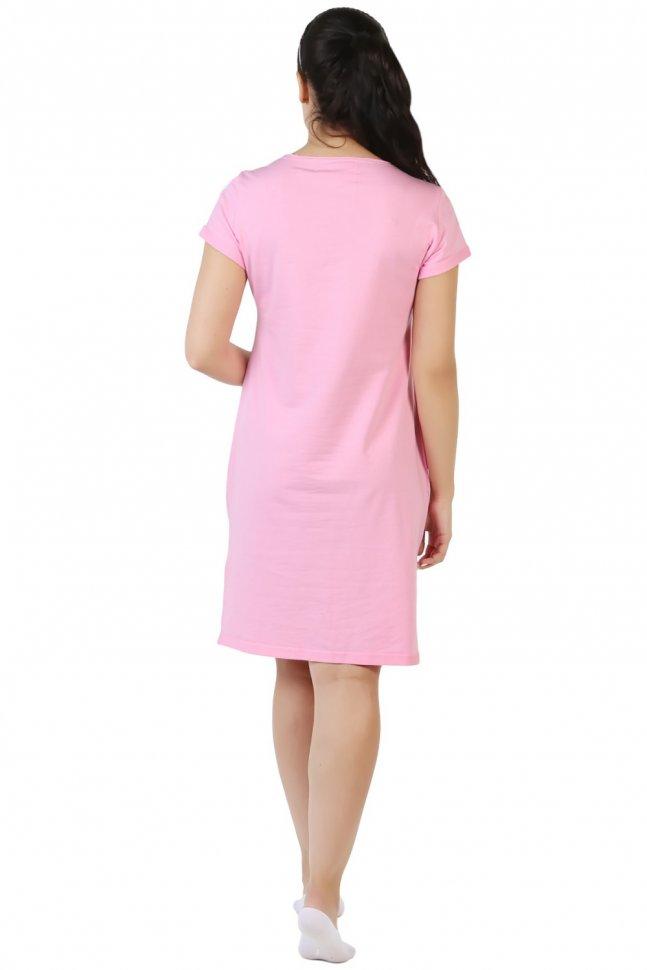 Платье трикотажное Стрекоза (розовое)