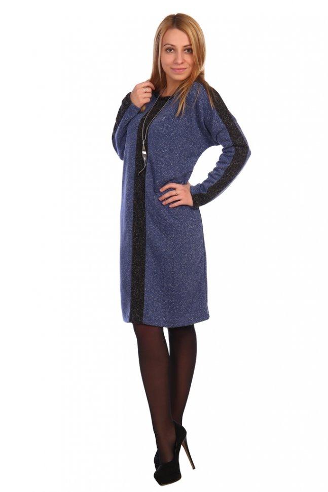 Платье трикотажное Агна (синее) фото