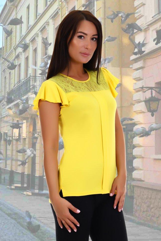 Блуза вискозная Рапсодия (желтая) фото