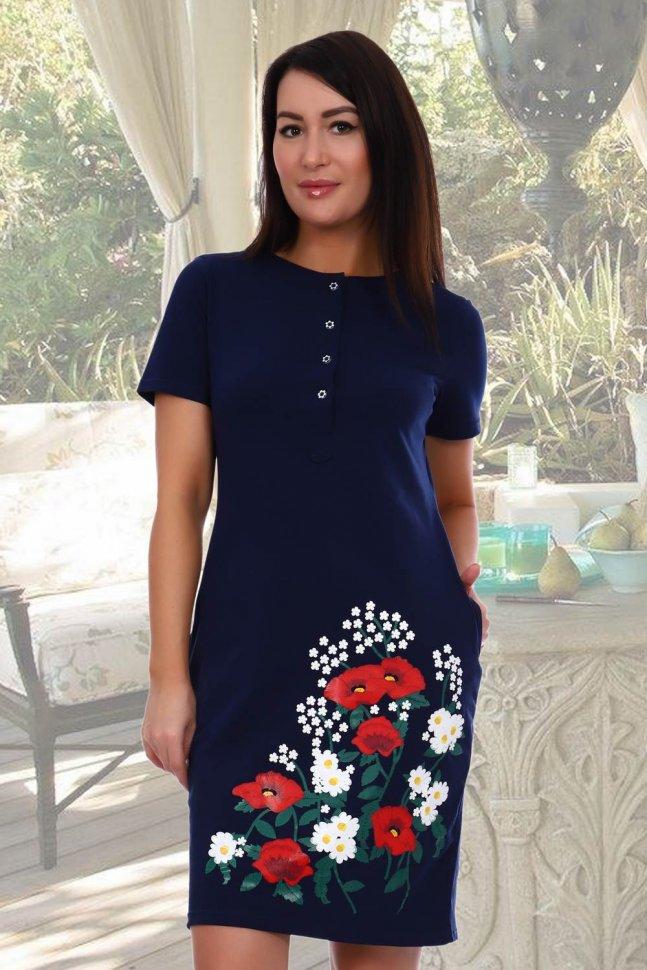 Платье трикотажное Поли фото