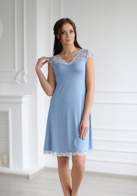 Ночная сорочка Катрин (голубая)