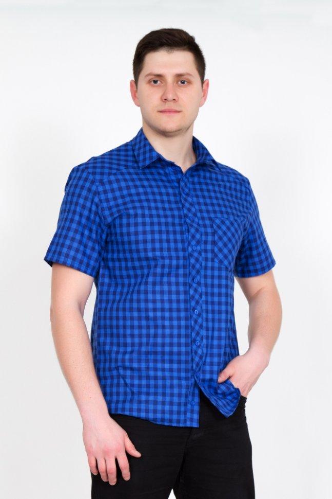 Рубашка мужская Ромио (синяя) фото