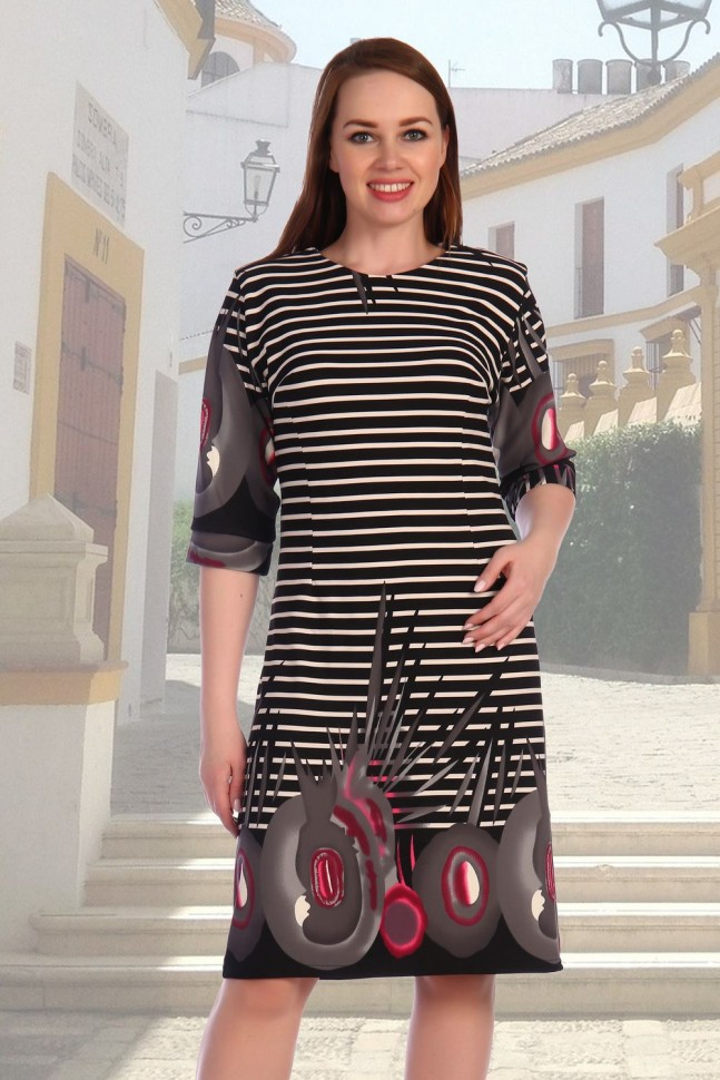 Платье трикотажное Аттракцион (полоса) фото