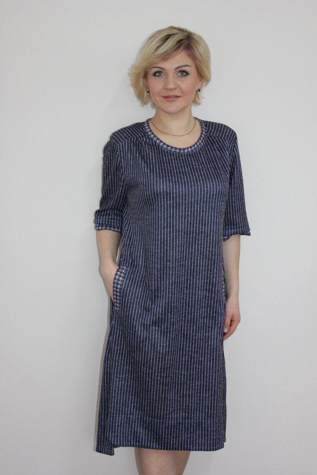 Платье трикотажное Люси (полоска) фото