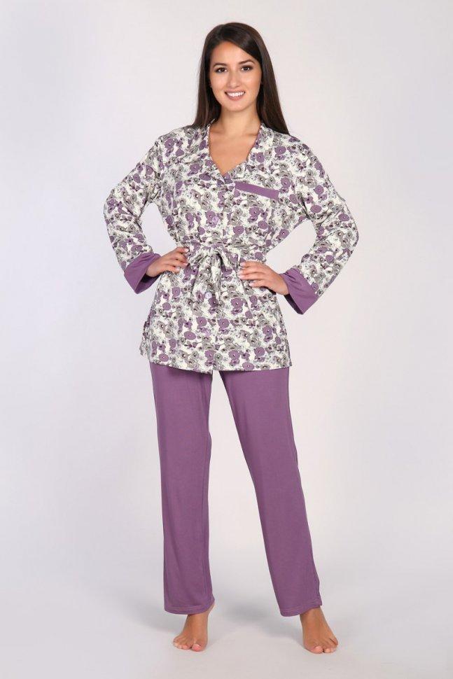 Пижама вискозная Шанис (лиловая) фото
