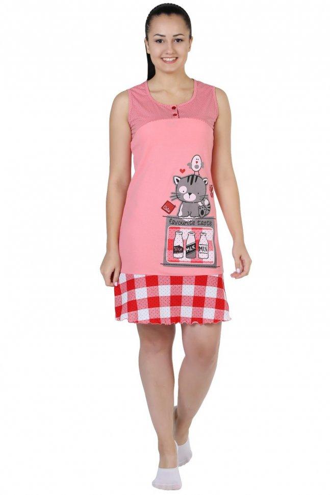 Ночная сорочка Молоко (розовая)