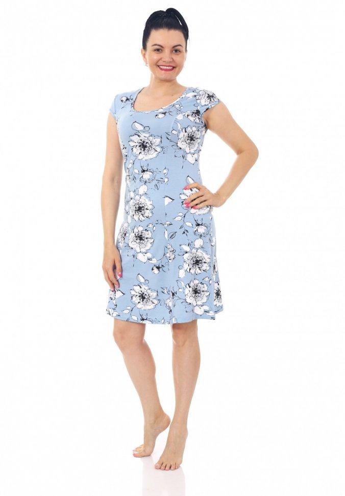 Платье вискозное Мишель (голубое) фото