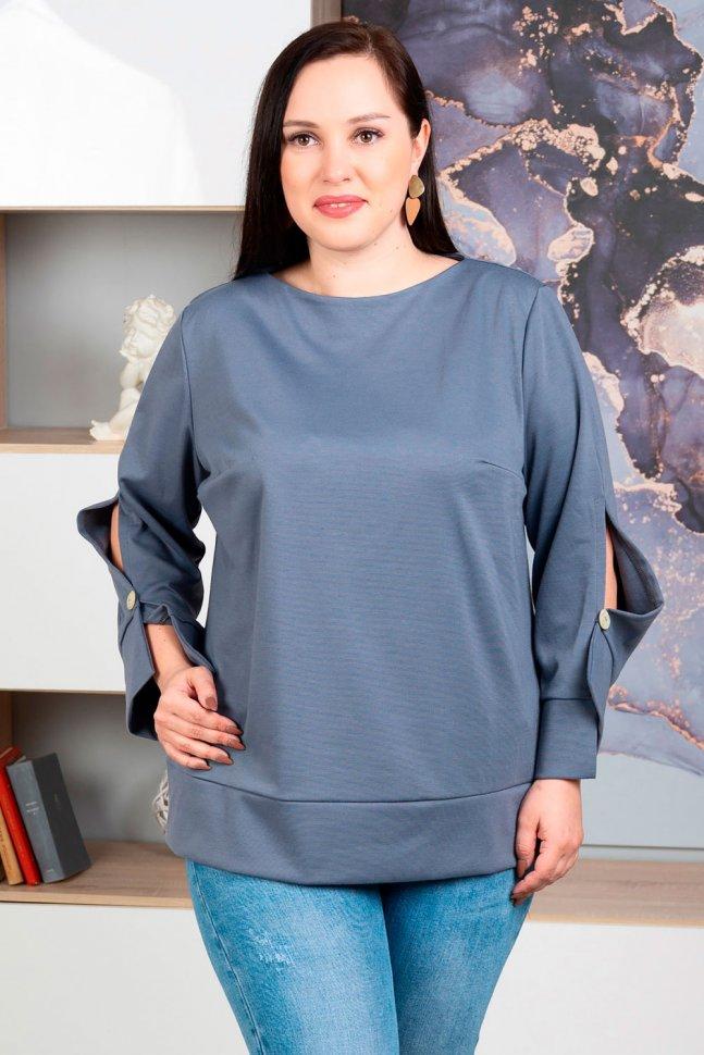 Блуза трикотажная Делфина (серая)