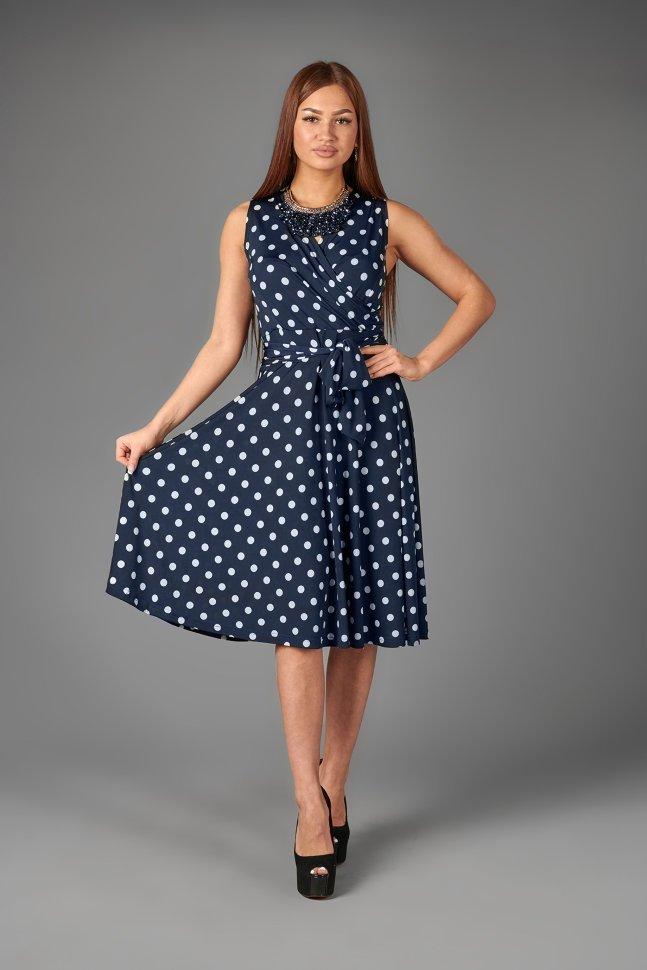 Платье трикотажное Альбина (горох)
