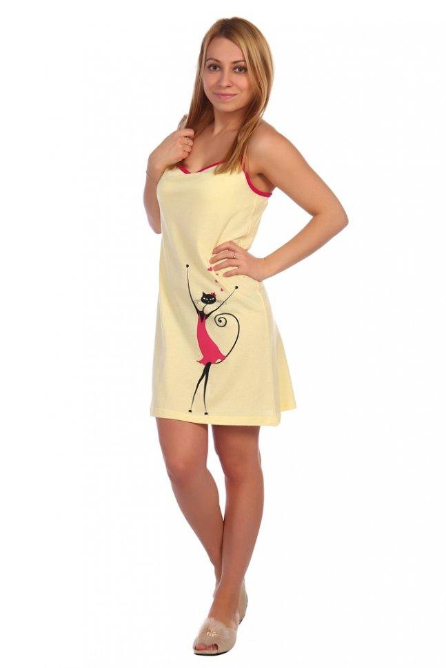 Ночная сорочка Лиана (желтая) фото