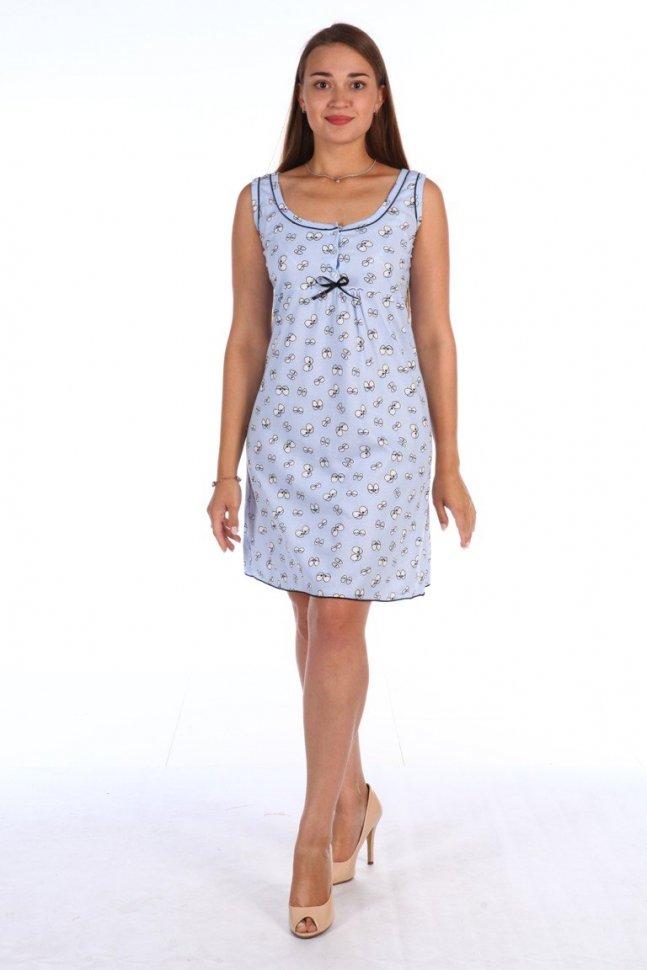 Ночная сорочка Нита (голубая) фото