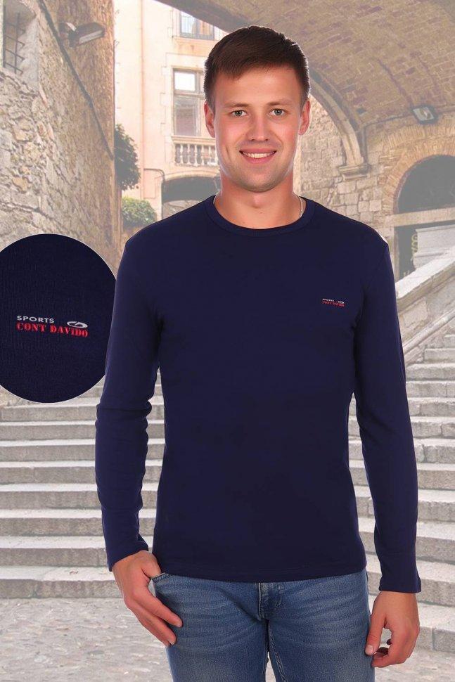 Толстовка трикотажная Давид (темно-синяя) фото