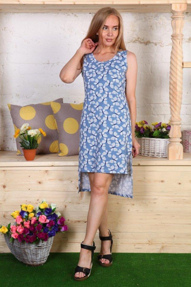 Платье трикотажное Розалина (бабочки) фото