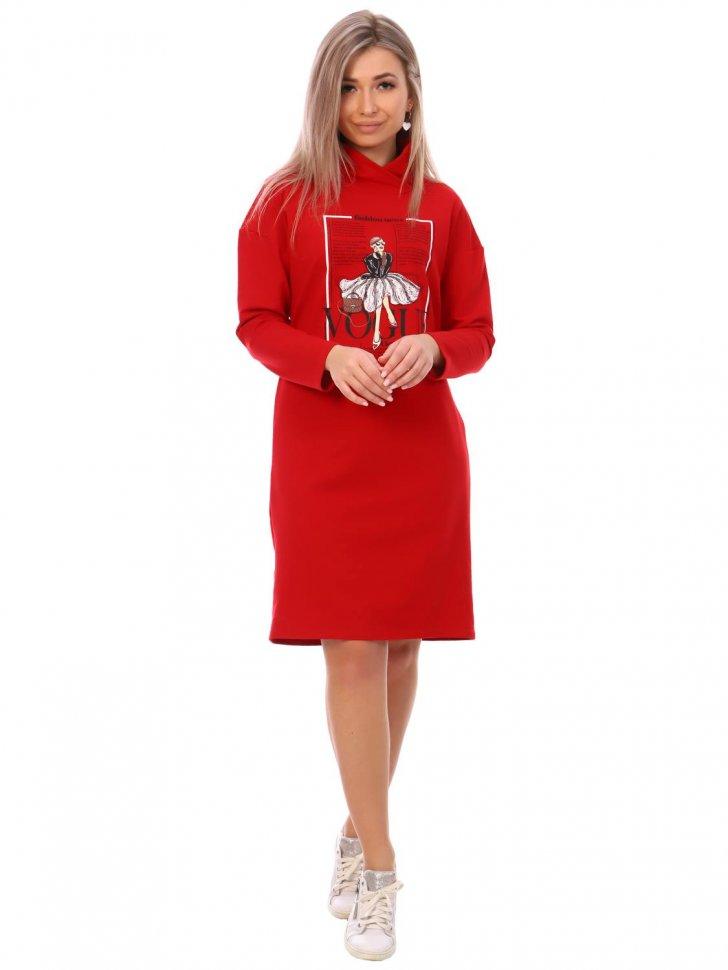 Платье трикотажное Роберта (красное)