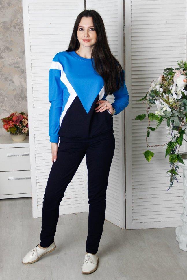 Костюм трикотажный Ашлинг (синий) фото