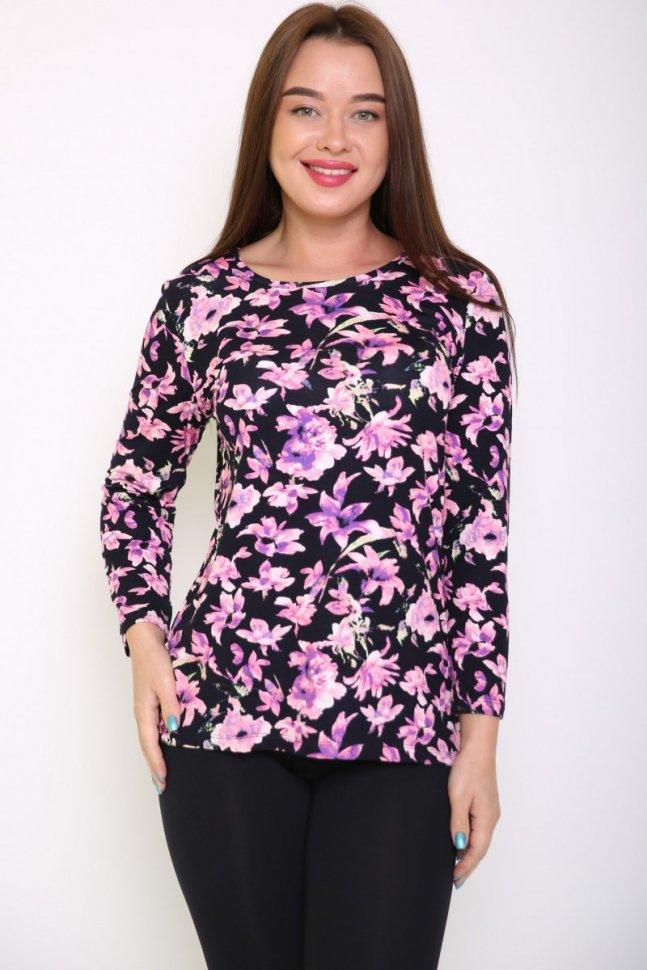 Блуза вискозная Роуз (цветы) фото