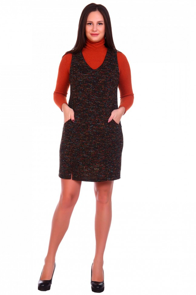 Сарафан трикотажный Эмма (черный) фото
