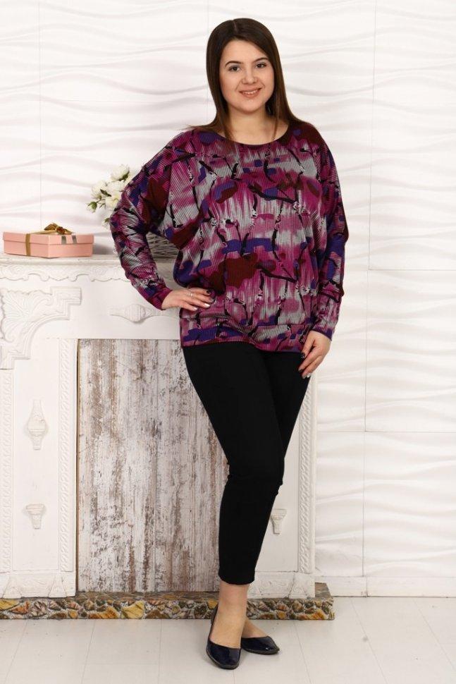 Блуза трикотажная Джаннет (бордовая) фото