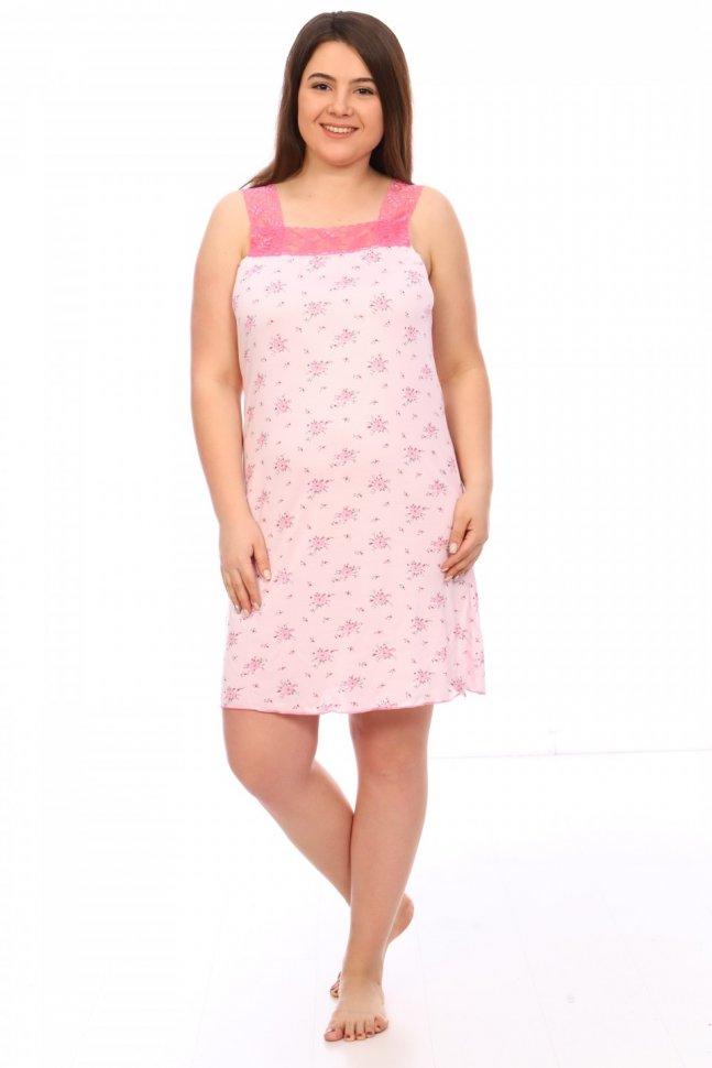 Ночная сорочка Олеся (розовая) фото