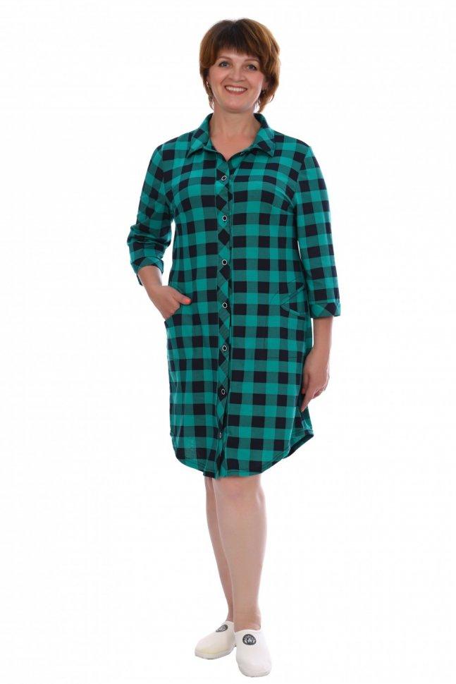 Рубашка трикотажная Сюзанна (изумрудная) фото