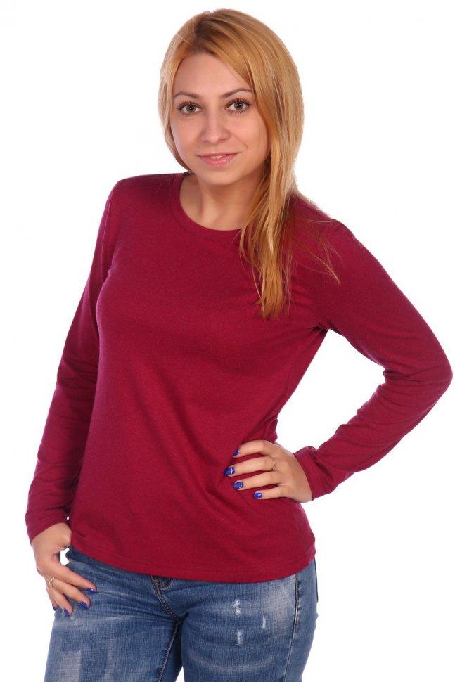 Блуза трикотажная Ондреа (бордовая) фото