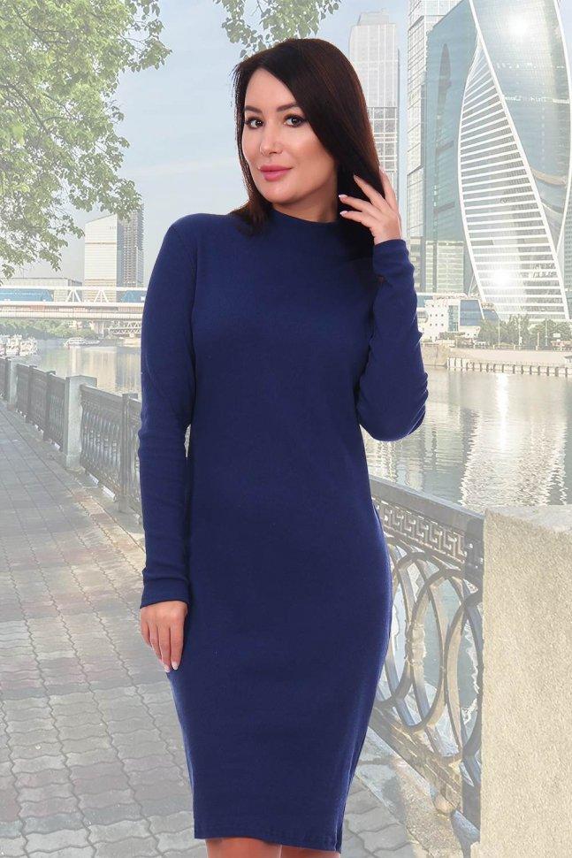 Платье трикотажное Панамера (индиго) фото