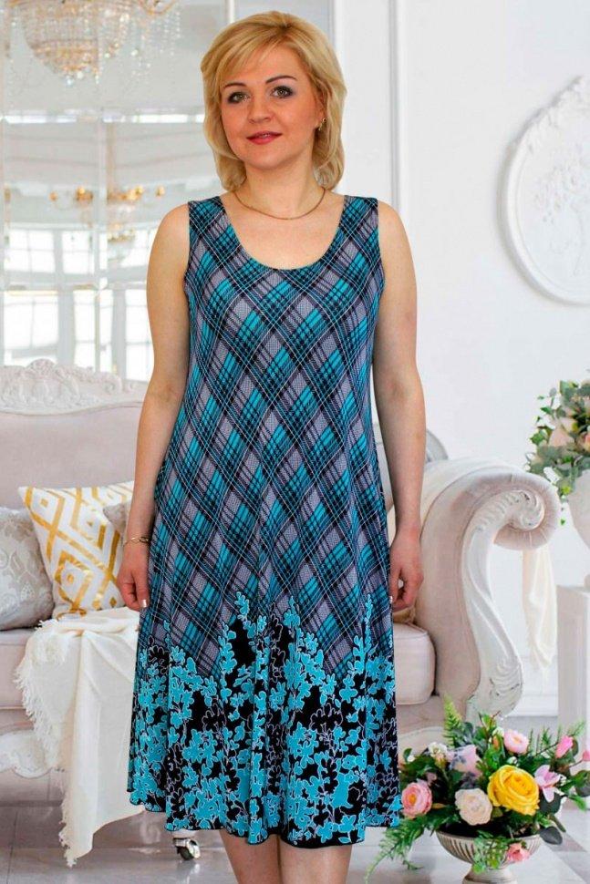 Платье трикотажное Либби (клетка) от