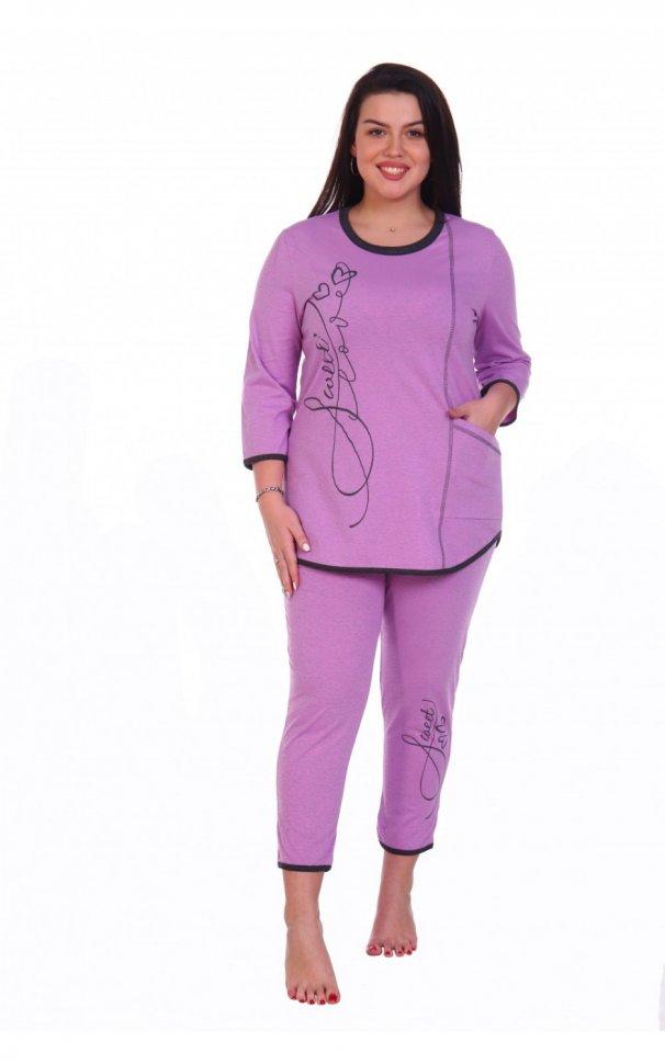 Пижама трикотажная Нежка (лиловая) фото