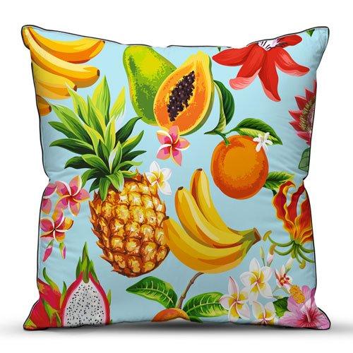 Подушка декоративная 40x40 Тропические фрукты фото